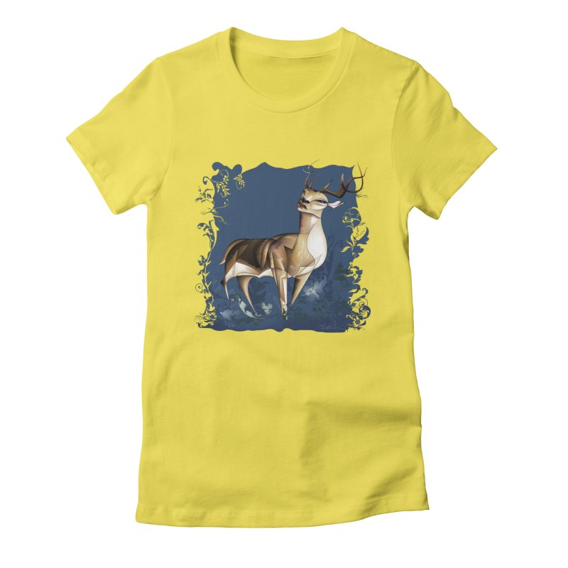 Deer Women's Fitted T-Shirt by Todd Powelson's Artist Shop
