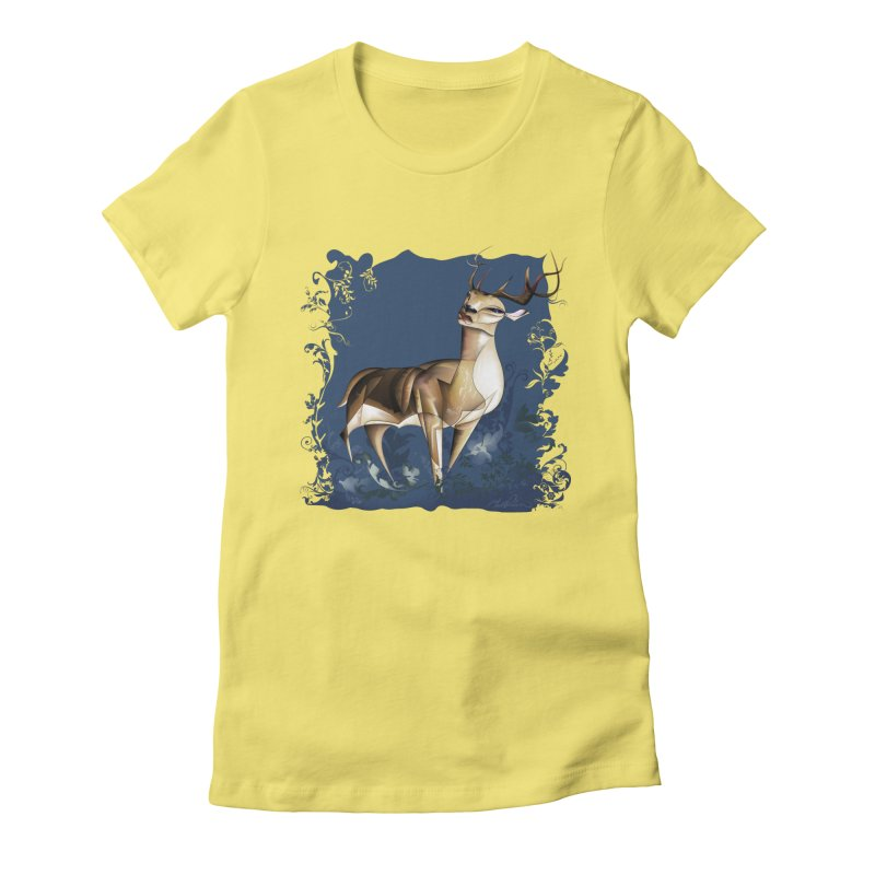 Deer Women's Fitted T-Shirt by Todd Powelson's Artist Shop