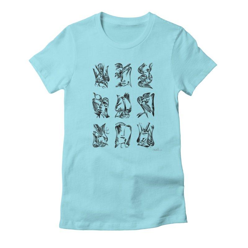 Blackbirds & Spirit Women's Fitted T-Shirt by Todd Powelson's Artist Shop