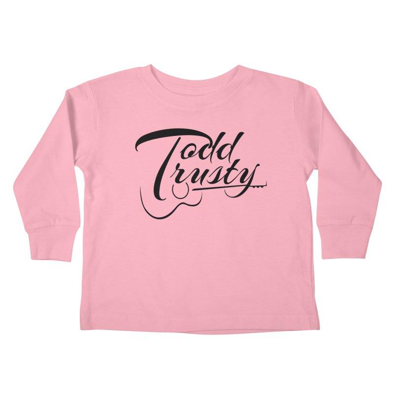 Black Logo Kids Toddler Longsleeve T-Shirt by Todd Trusty Music's Artist Shop