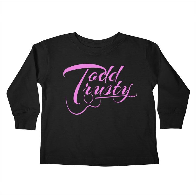 Pink Logo Kids Toddler Longsleeve T-Shirt by Todd Trusty Music's Artist Shop