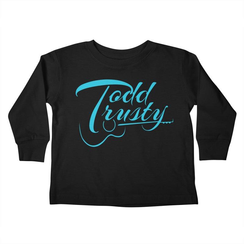 Caribbean Blue Logo Kids Toddler Longsleeve T-Shirt by Todd Trusty Music's Artist Shop