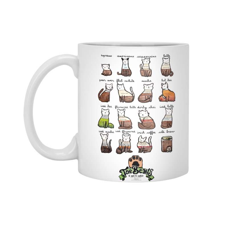 Coffee Cats Info-graphic Accessories Standard Mug by Toe Beans Cat Cafe Online Shop