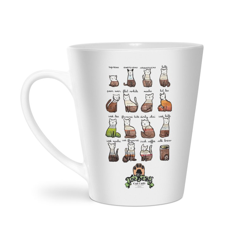 Coffee Cats Info-graphic Accessories Latte Mug by Toe Beans Cat Cafe Online Shop