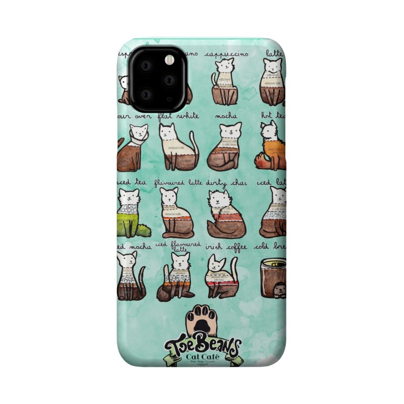 Coffee Cats Info-graphic Accessories Phone Case by Toe Beans Cat Cafe Online Shop