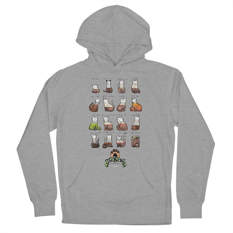 Coffee Cats Info-graphic Women's Pullover Hoody by Toe Beans Cat Cafe Online Shop