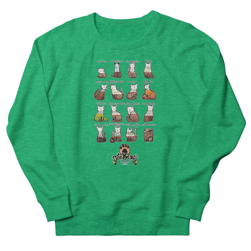 Coffee Cats Info-graphic Women's Sweatshirt by Toe Beans Cat Cafe Online Shop