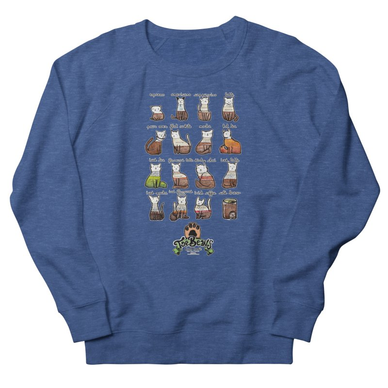 Coffee Cats Info-graphic Men's Sweatshirt by Toe Beans Cat Cafe Online Shop