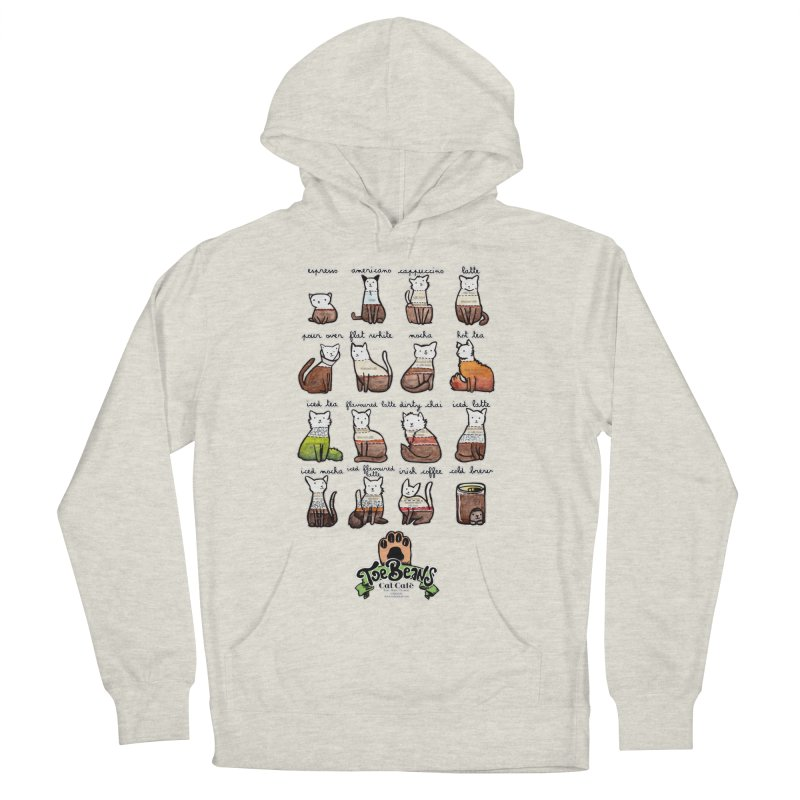 Coffee Cats Info-graphic Women's French Terry Pullover Hoody by Toe Beans Cat Cafe Online Shop