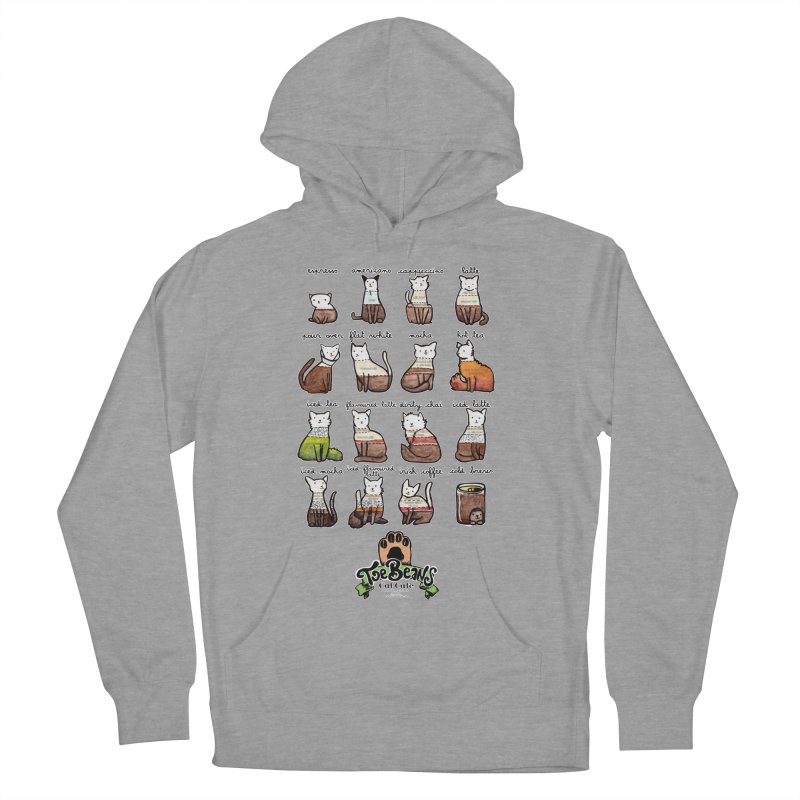 Coffee Cats Info-graphic Men's French Terry Pullover Hoody by Toe Beans Cat Cafe Online Shop
