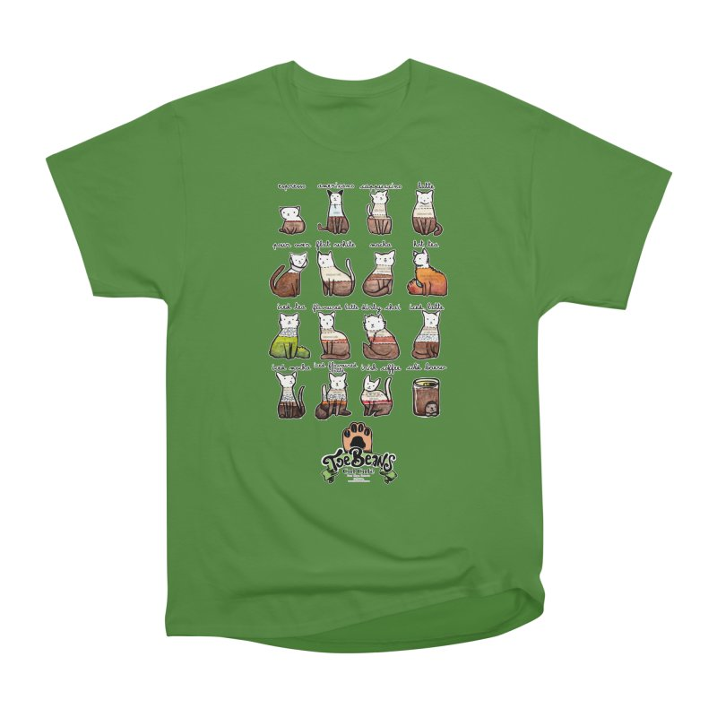 Coffee Cats Info-graphic Men's Classic T-Shirt by Toe Beans Cat Cafe Online Shop