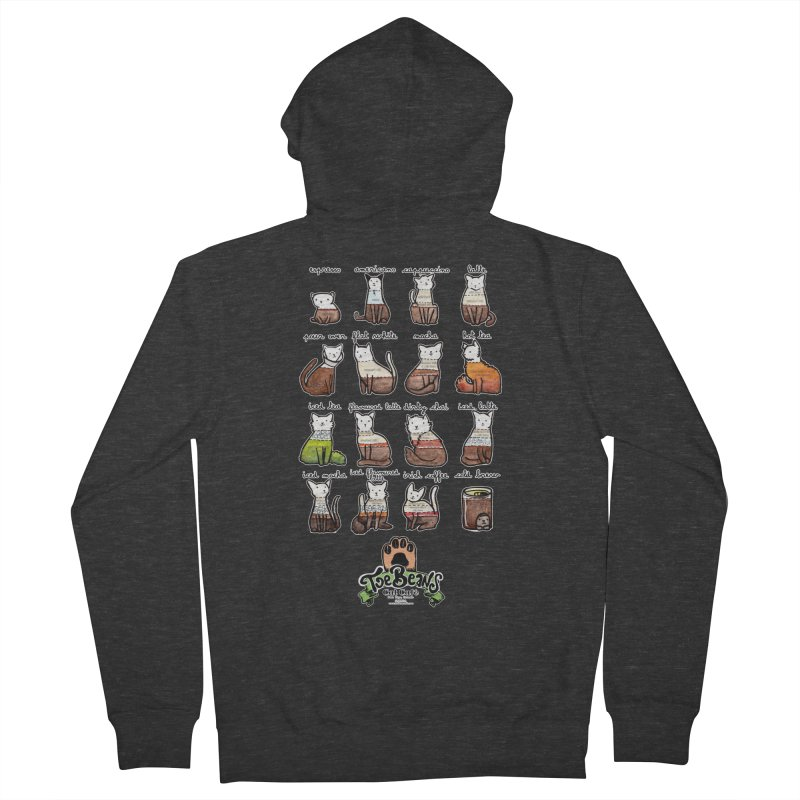 Coffee Cats Info-graphic Women's Zip-Up Hoody by Toe Beans Cat Cafe Online Shop