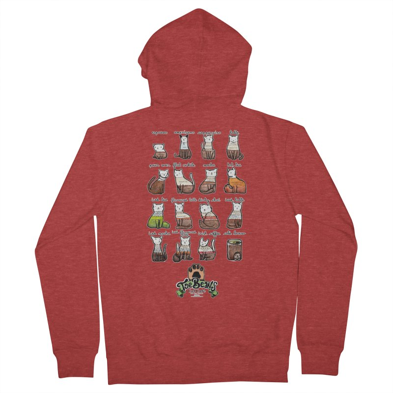 Coffee Cats Info-graphic Women's French Terry Zip-Up Hoody by Toe Beans Cat Cafe Online Shop