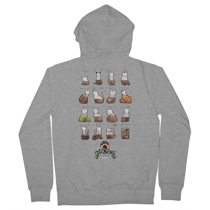 Coffee Cats Info-graphic Men's French Terry Zip-Up Hoody by Toe Beans Cat Cafe Online Shop