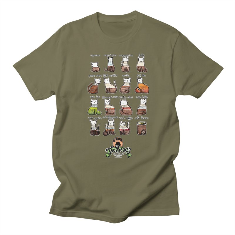 Coffee Cats Info-graphic Men's Regular T-Shirt by Toe Beans Cat Cafe Online Shop