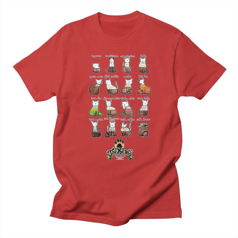 Coffee Cats Info-graphic Women's Regular Unisex T-Shirt by Toe Beans Cat Cafe Online Shop