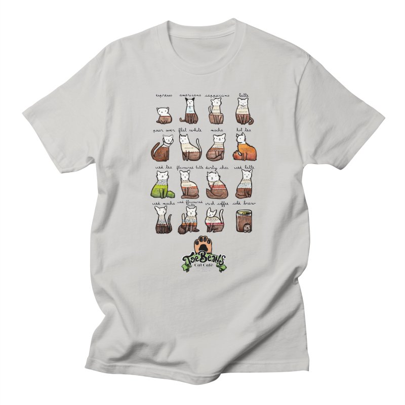 Coffee Cats Info-graphic Men's T-Shirt by Toe Beans Cat Cafe Online Shop