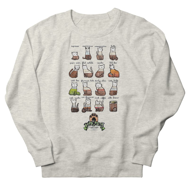 Coffee Cats Info-graphic Men's French Terry Sweatshirt by Toe Beans Cat Cafe Online Shop