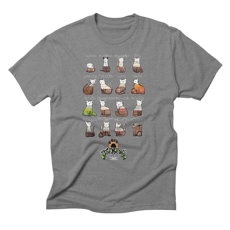 Coffee Cats Info-graphic Men's Triblend T-Shirt by Toe Beans Cat Cafe Online Shop