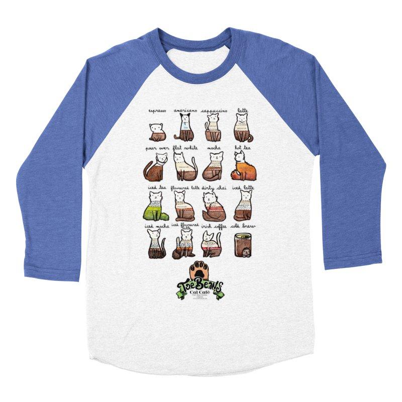 Coffee Cats Info-graphic Women's Baseball Triblend Longsleeve T-Shirt by Toe Beans Cat Cafe Online Shop