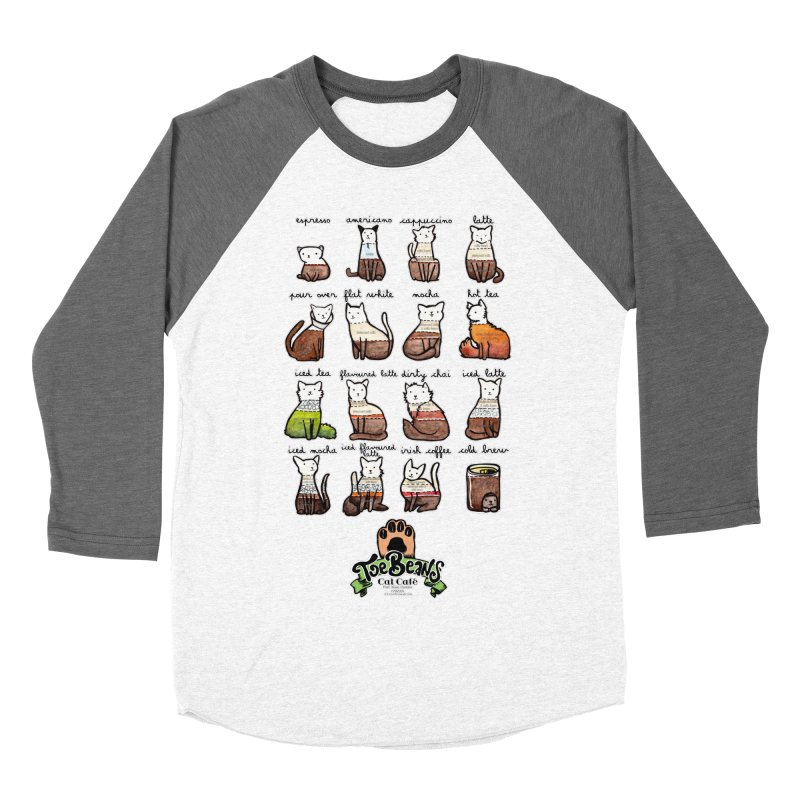 Coffee Cats Info-graphic Men's Longsleeve T-Shirt by Toe Beans Cat Cafe Online Shop