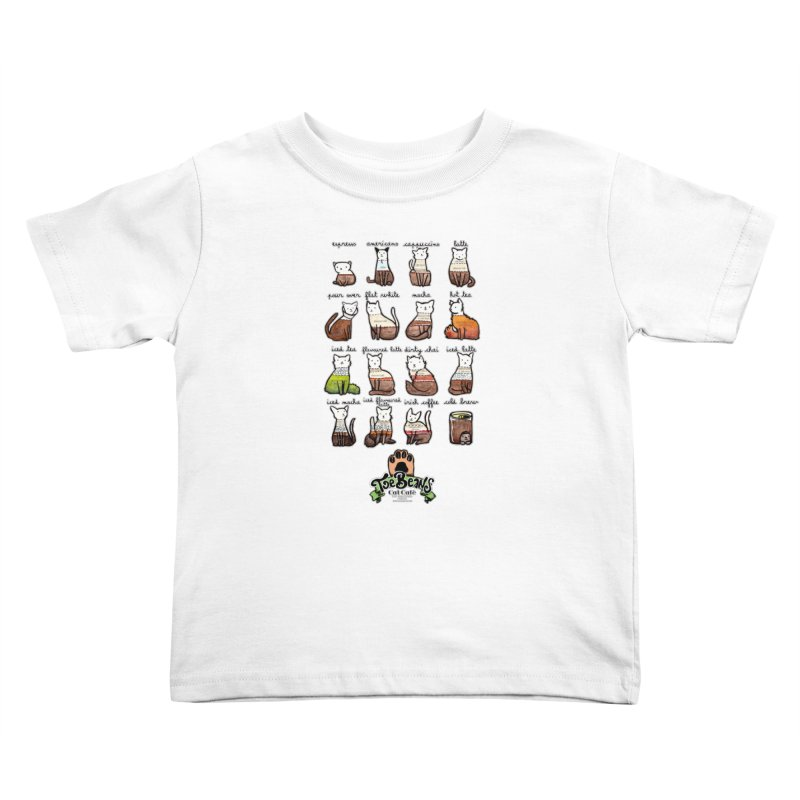 Coffee Cats Info-graphic Kids Toddler T-Shirt by Toe Beans Cat Cafe Online Shop