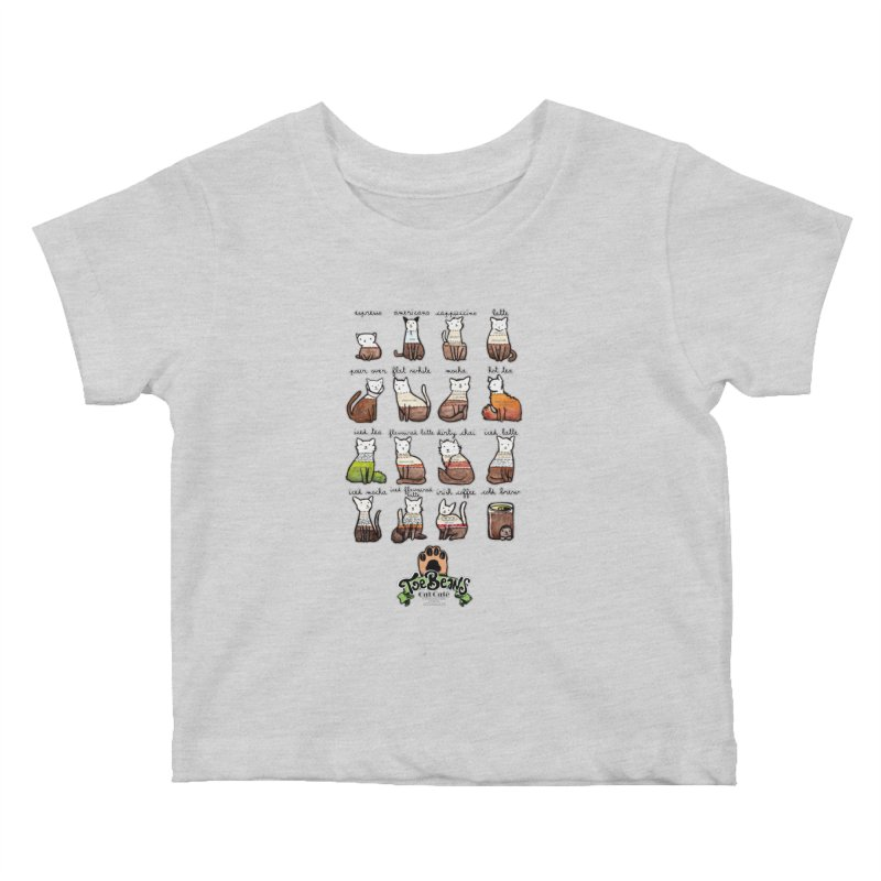 Coffee Cats Info-graphic Kids Baby T-Shirt by Toe Beans Cat Cafe Online Shop