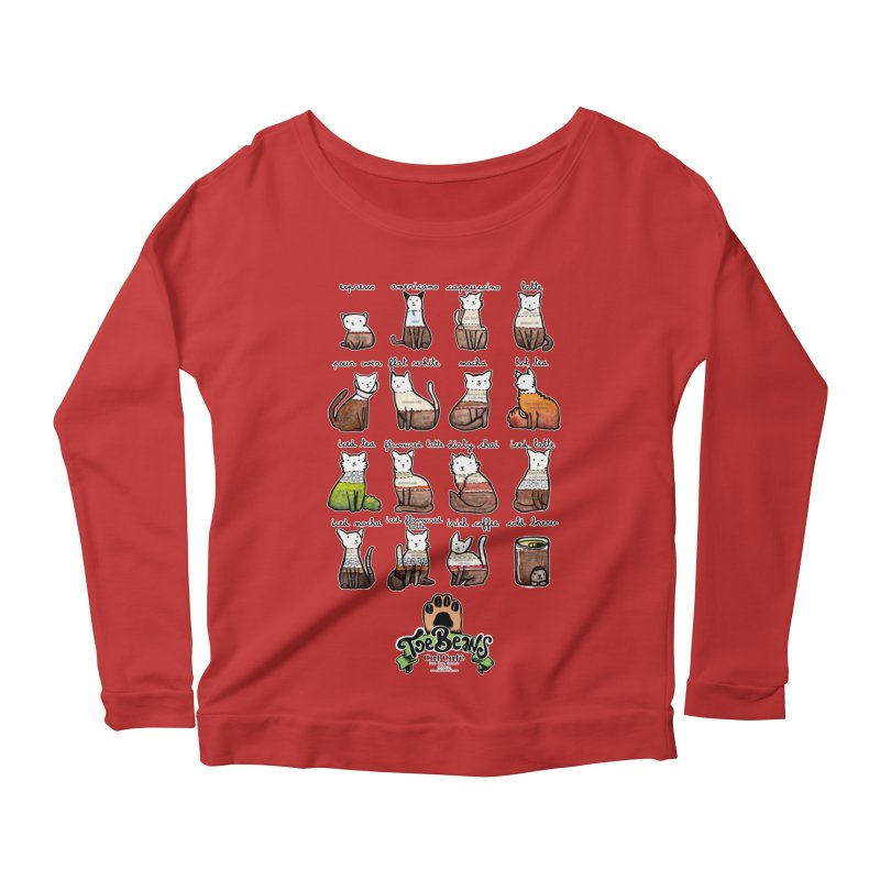 Coffee Cats Info-graphic Women's Longsleeve T-Shirt by Toe Beans Cat Cafe Online Shop