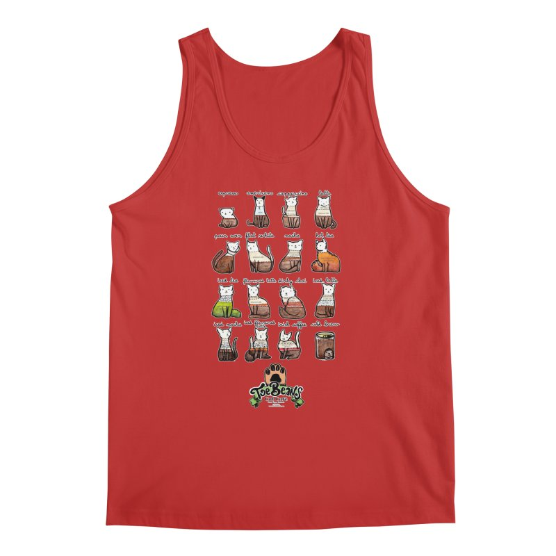 Coffee Cats Info-graphic Men's Regular Tank by Toe Beans Cat Cafe Online Shop