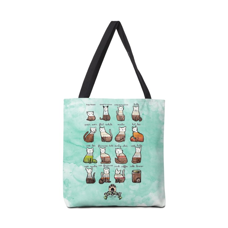 Coffee Cats Info-graphic Accessories Bag by Toe Beans Cat Cafe Online Shop