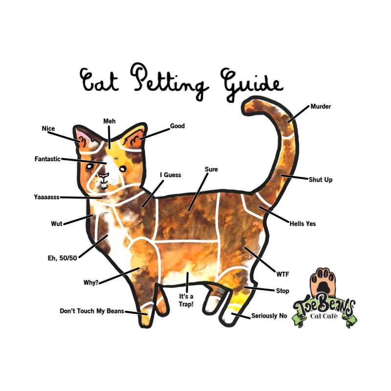 Cat Petting Guide Women's V-Neck by Toe Beans Cat Cafe Online Shop