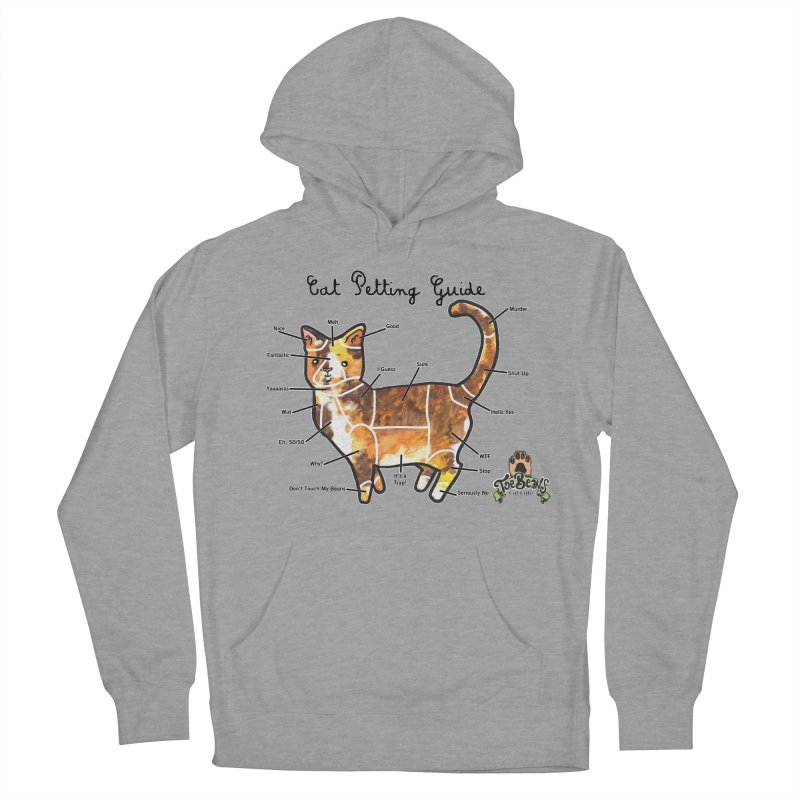 Cat Petting Guide Women's Pullover Hoody by Toe Beans Cat Cafe Online Shop