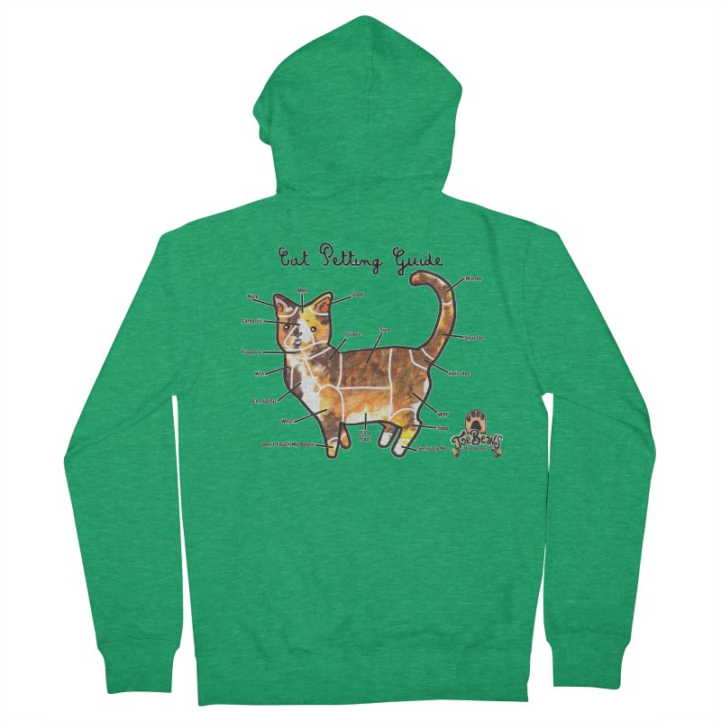 Cat Petting Guide Women's Zip-Up Hoody by Toe Beans Cat Cafe Online Shop