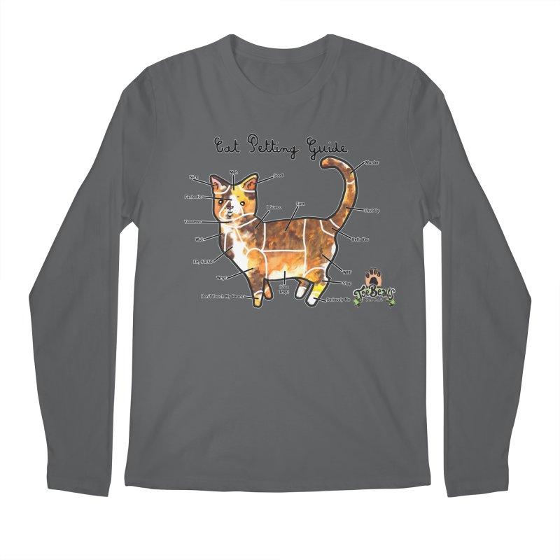 Cat Petting Guide Men's Longsleeve T-Shirt by Toe Beans Cat Cafe Online Shop