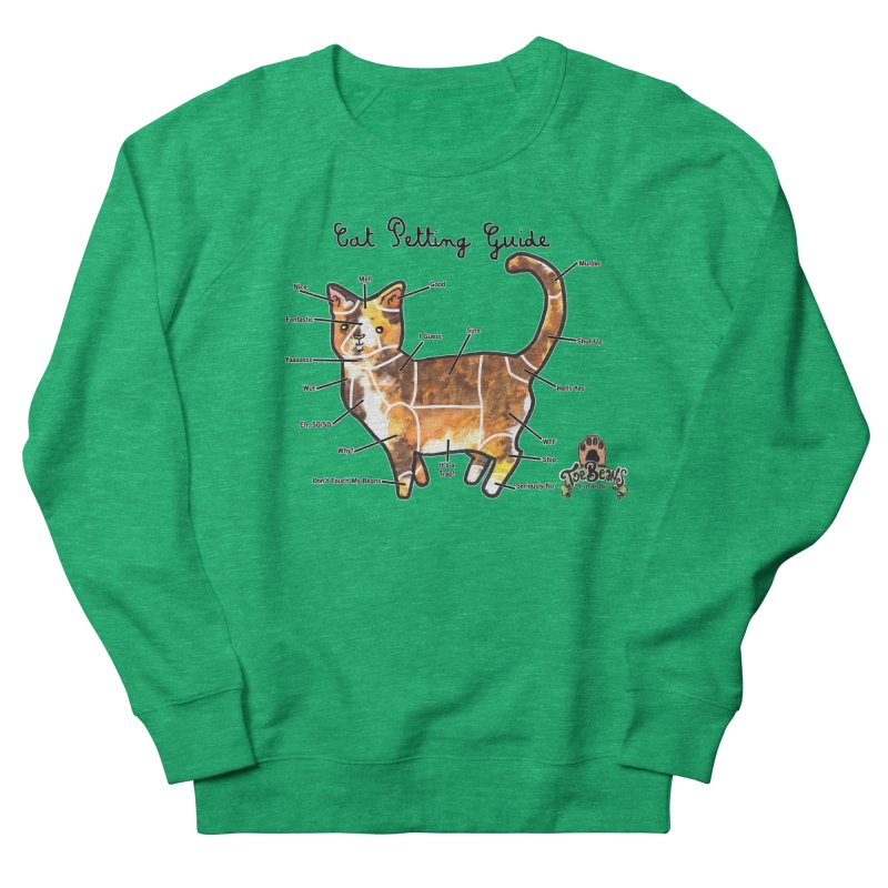 Cat Petting Guide Men's Sweatshirt by Toe Beans Cat Cafe Online Shop