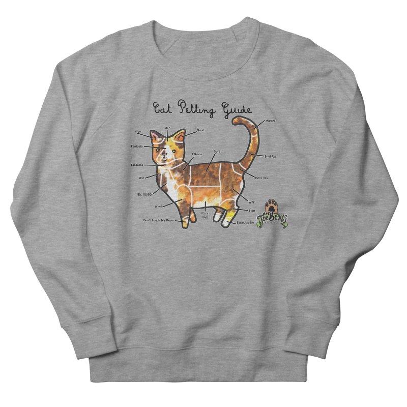 Cat Petting Guide Men's Sweatshirt by Toe Beans Cat Cafe Online Shop