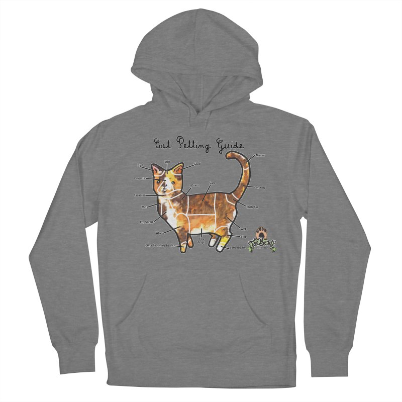 Cat Petting Guide Women's French Terry Pullover Hoody by Toe Beans Cat Cafe Online Shop