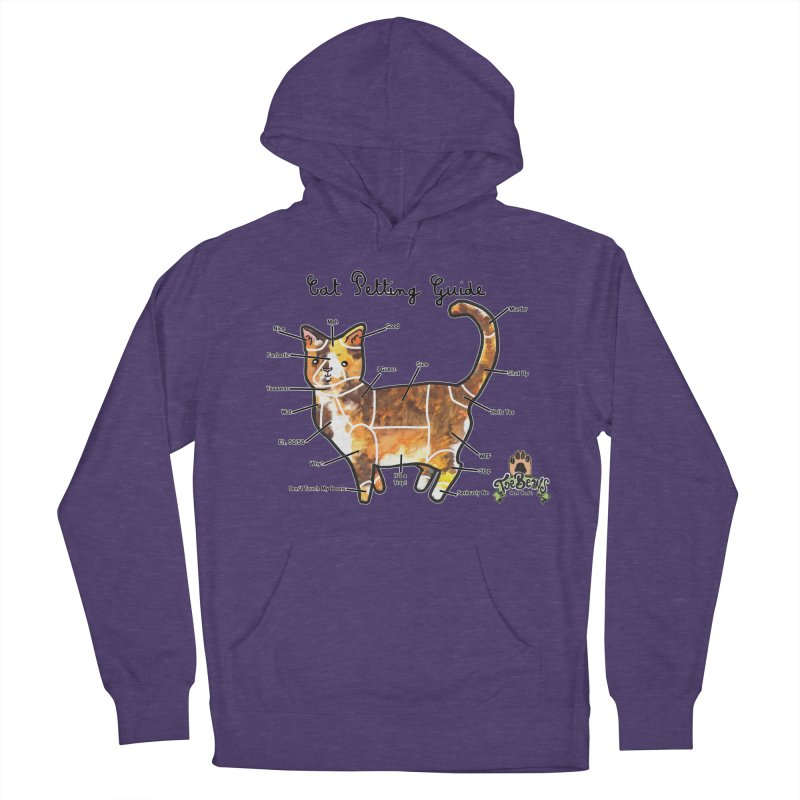 Cat Petting Guide Men's French Terry Pullover Hoody by Toe Beans Cat Cafe Online Shop