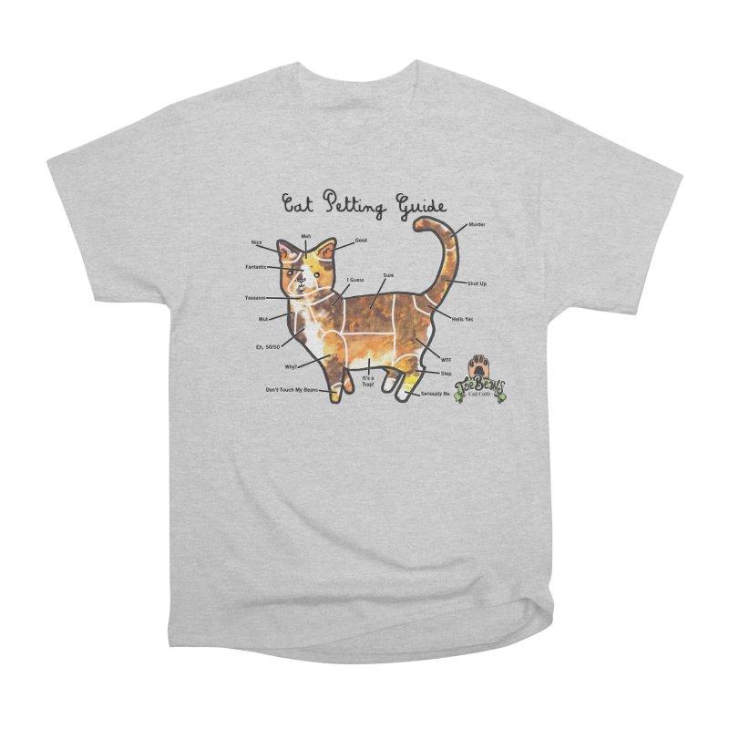 Cat Petting Guide Women's Heavyweight Unisex T-Shirt by Toe Beans Cat Cafe Online Shop