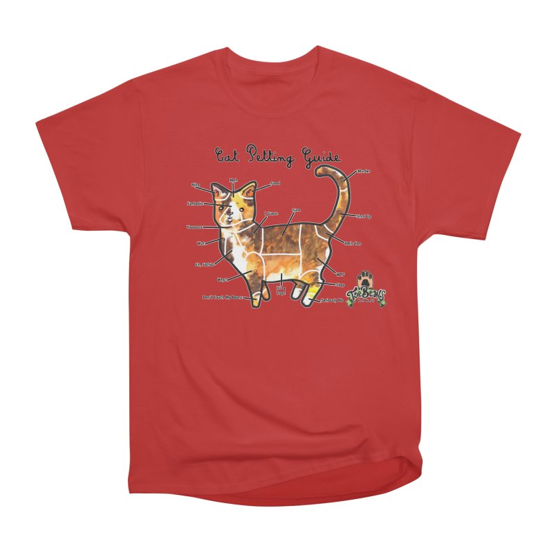Cat Petting Guide Men's Heavyweight T-Shirt by Toe Beans Cat Cafe Online Shop