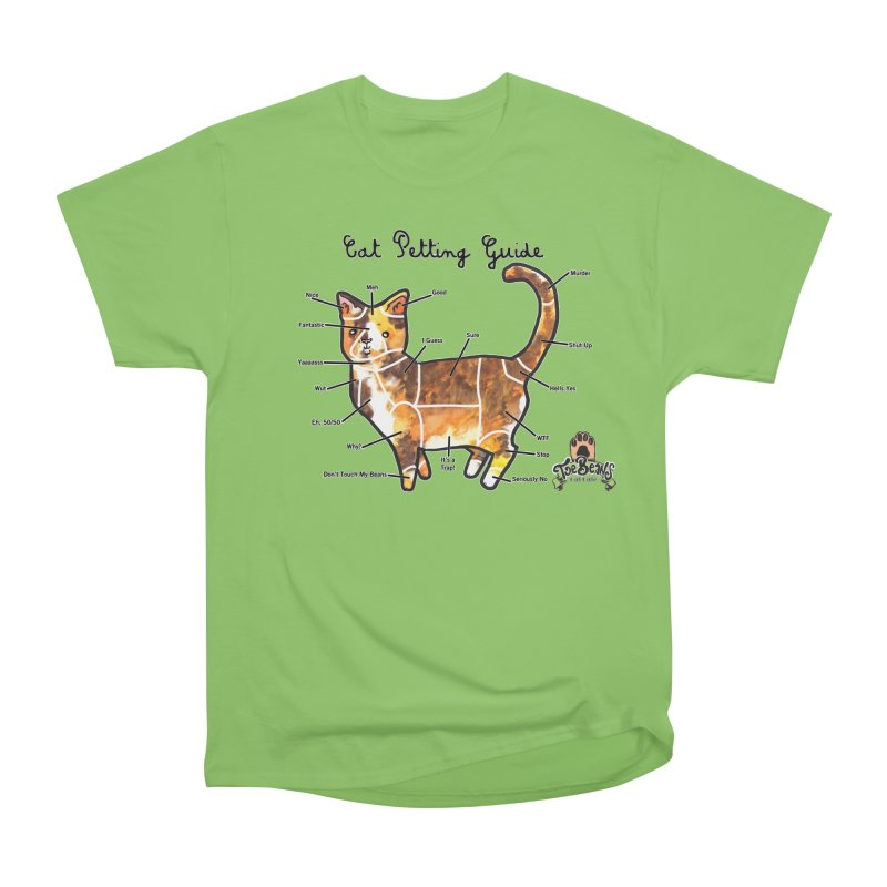 Cat Petting Guide Men's Heavyweight T-Shirt by Toe Beans Cat Cafe Online Shop