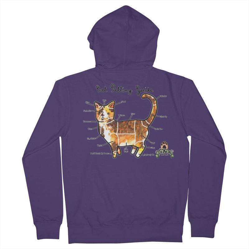 Cat Petting Guide Women's French Terry Zip-Up Hoody by Toe Beans Cat Cafe Online Shop