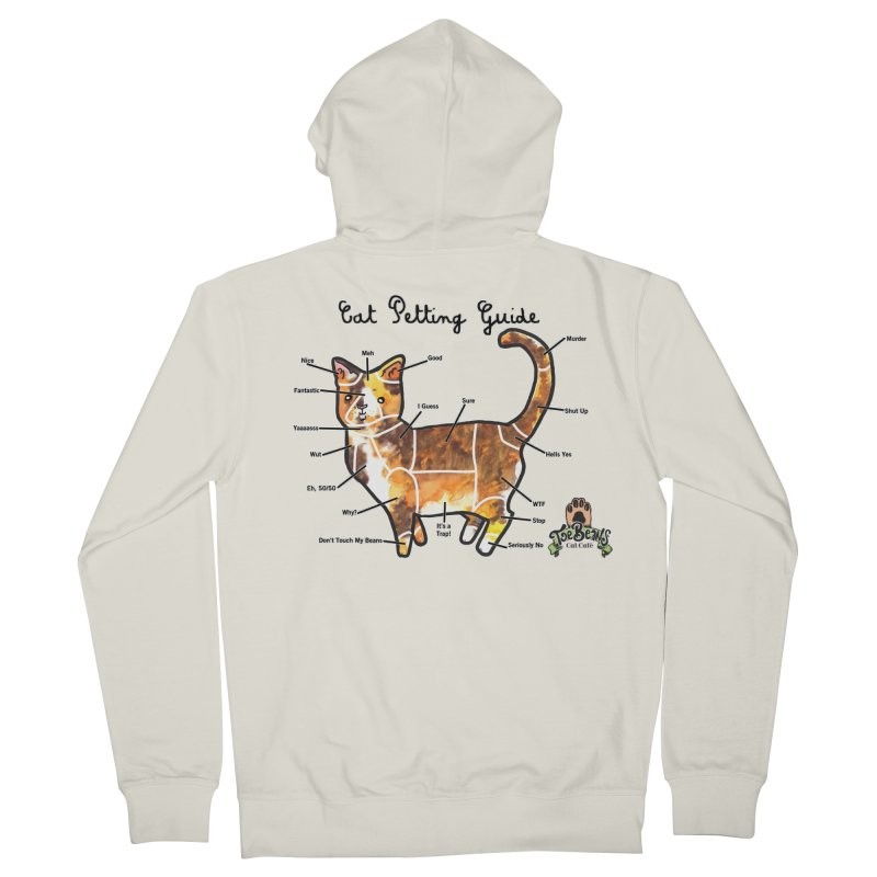 Cat Petting Guide Men's French Terry Zip-Up Hoody by Toe Beans Cat Cafe Online Shop