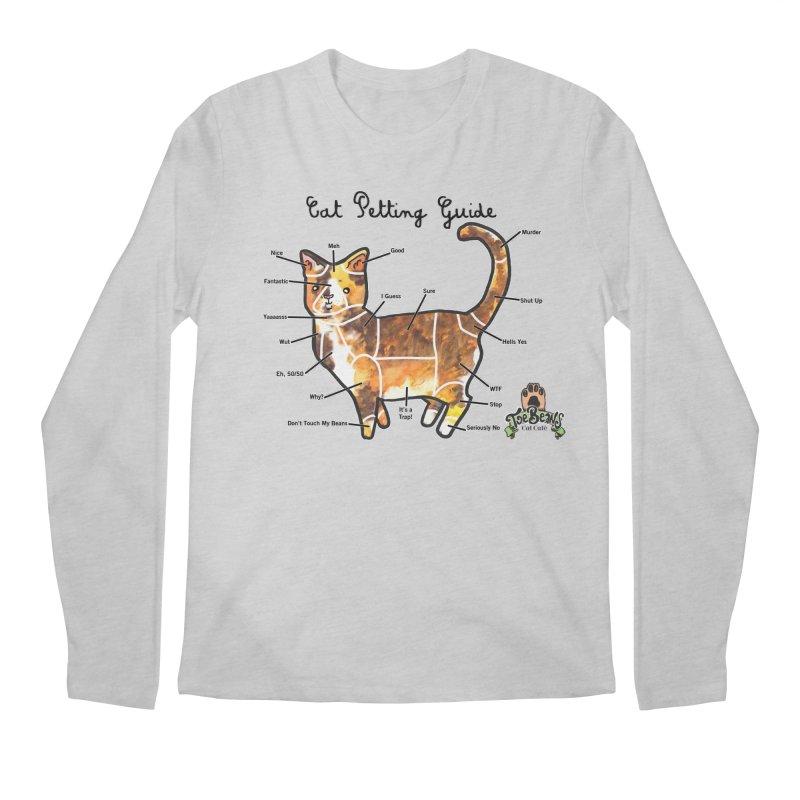 Cat Petting Guide Men's Regular Longsleeve T-Shirt by Toe Beans Cat Cafe Online Shop