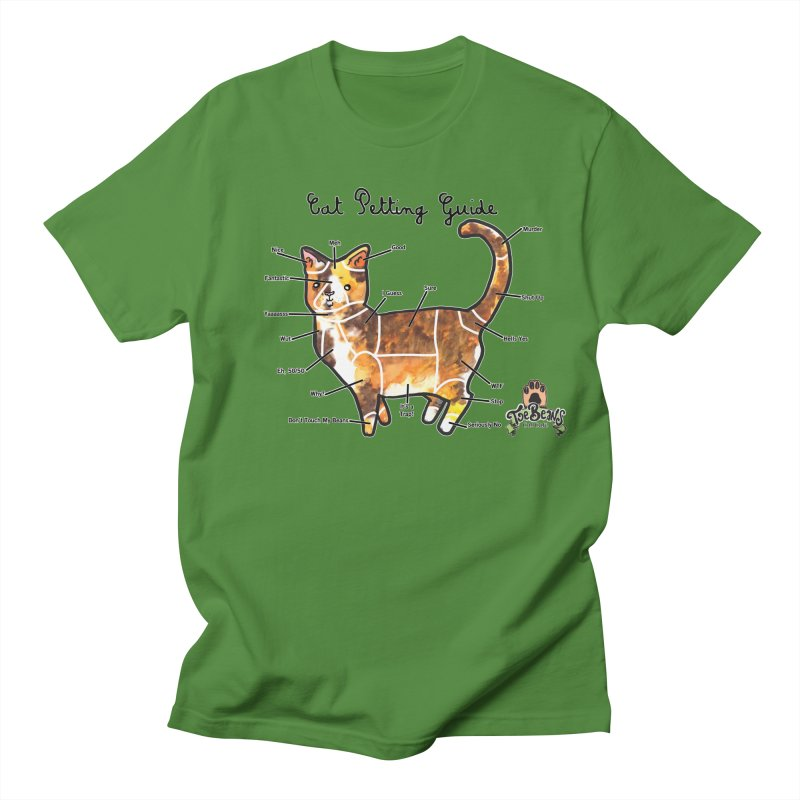 Cat Petting Guide Women's T-Shirt by Toe Beans Cat Cafe Online Shop