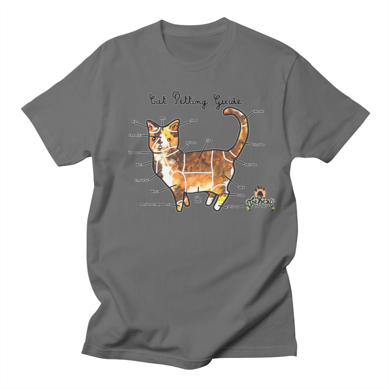 Cat Petting Guide Women's Regular Unisex T-Shirt by Toe Beans Cat Cafe Online Shop