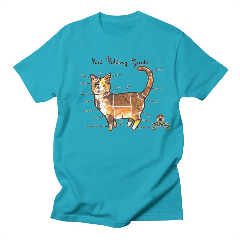 Cat Petting Guide Men's Regular T-Shirt by Toe Beans Cat Cafe Online Shop