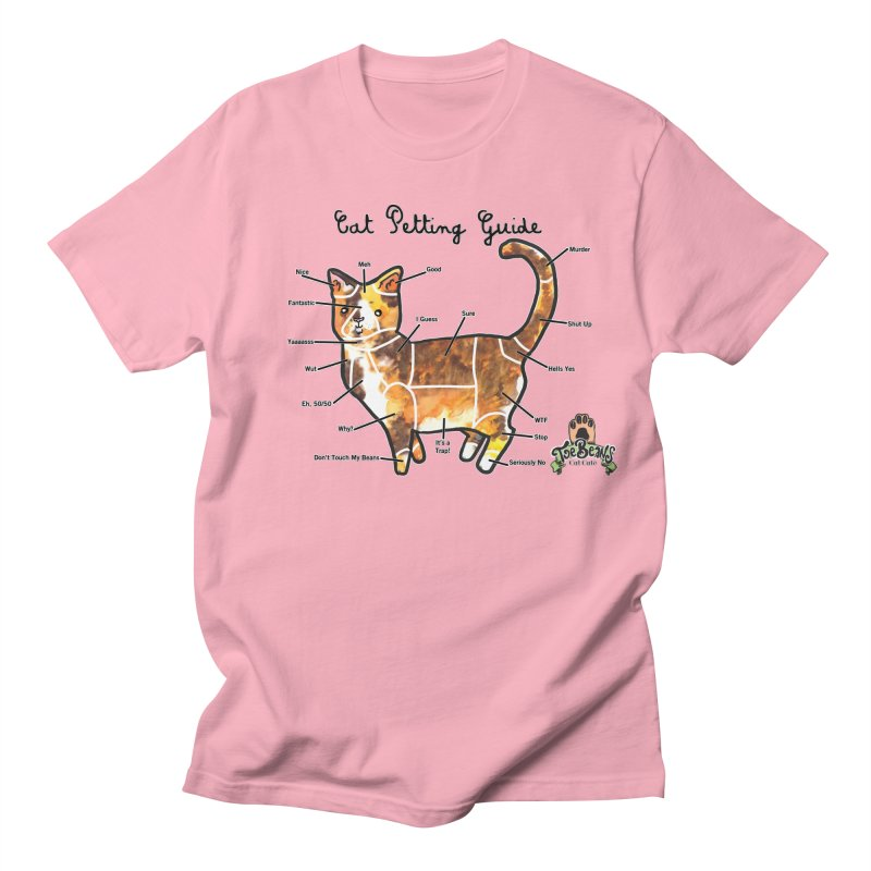 Cat Petting Guide Men's T-Shirt by Toe Beans Cat Cafe Online Shop