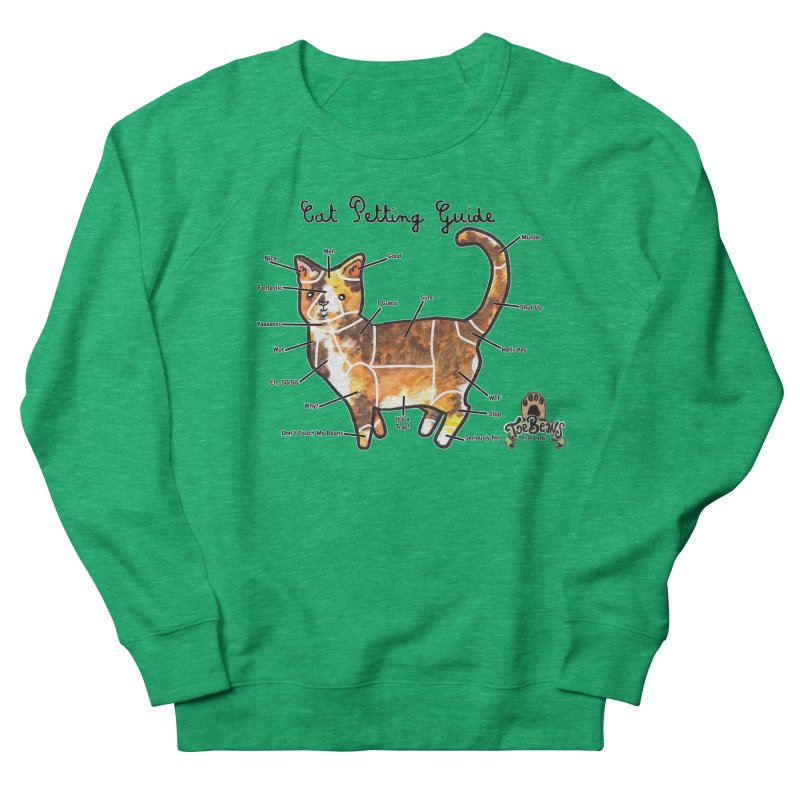 Cat Petting Guide Women's French Terry Sweatshirt by Toe Beans Cat Cafe Online Shop