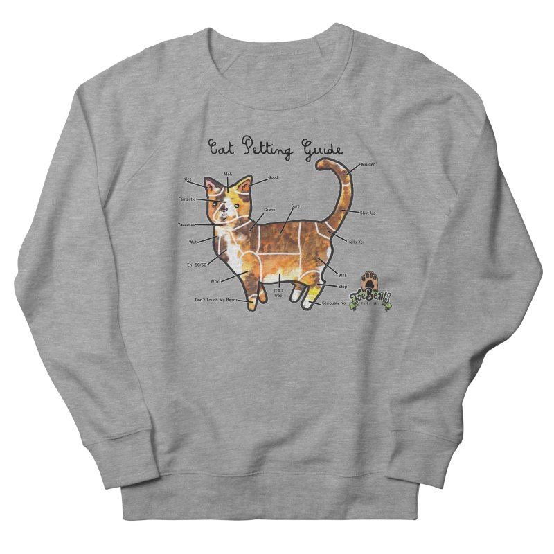 Cat Petting Guide Men's French Terry Sweatshirt by Toe Beans Cat Cafe Online Shop